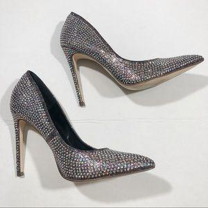 Shoes - Rhinestone Stiletto Heels